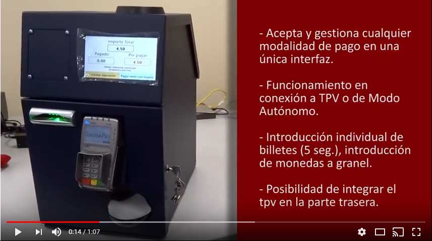 gunnebo paydesk, sistema de cobros automaticos