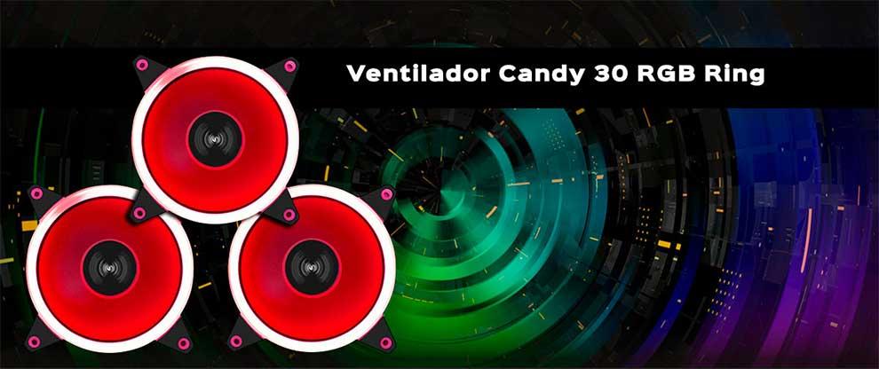 Ventiladores Candy 10 Rainbow, 20 Ring y 30 RGB de UNYKAch