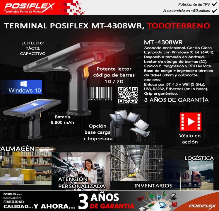 Terminal Posiflex MT-4308WR, todoterreno - expotecno