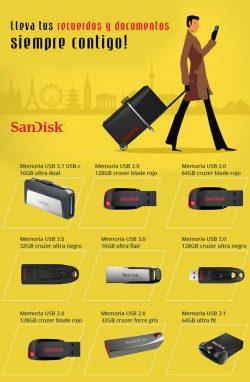 recuerdos y documentos con sandisk