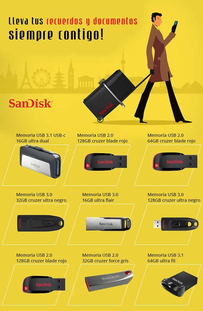 Sandisk, para llevar tus recuerdos y documentos