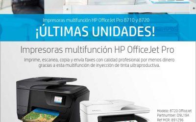 Últimas multifunción HP OfficeJet Pro 8710 y 8720