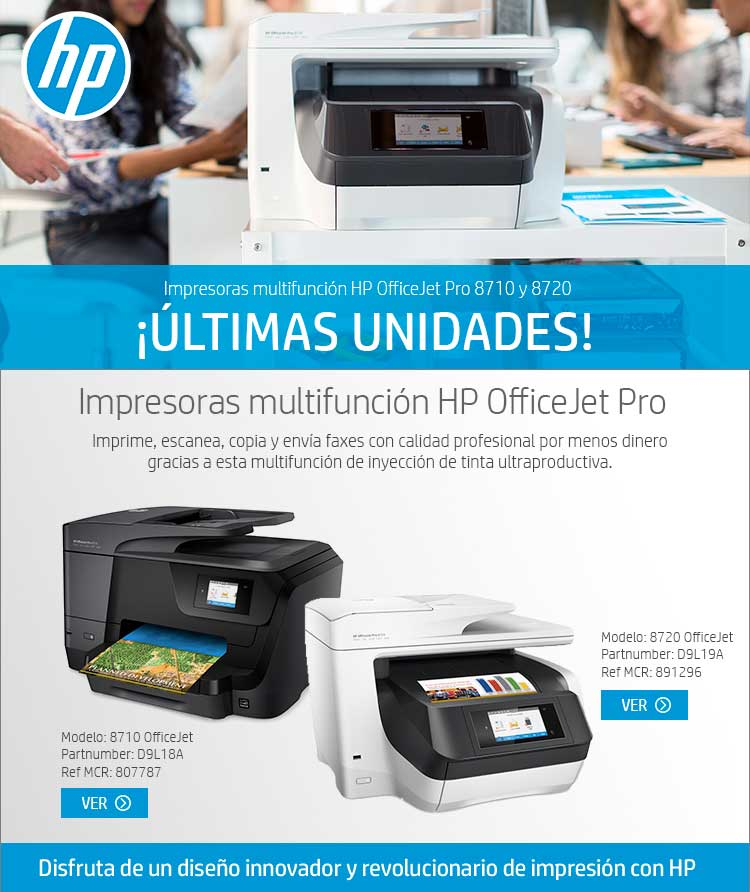 últimas unidades HP OfficeJet