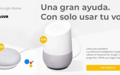 Descuentos Google Home una gran ayuda con solo usar tu voz