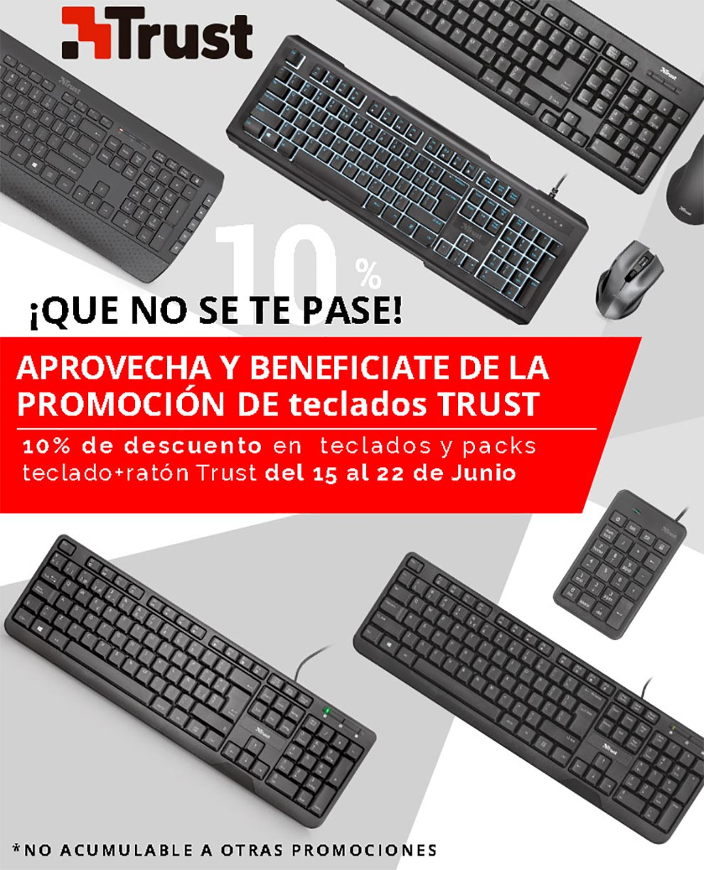 promocion teclados trust en mayorista desyman
