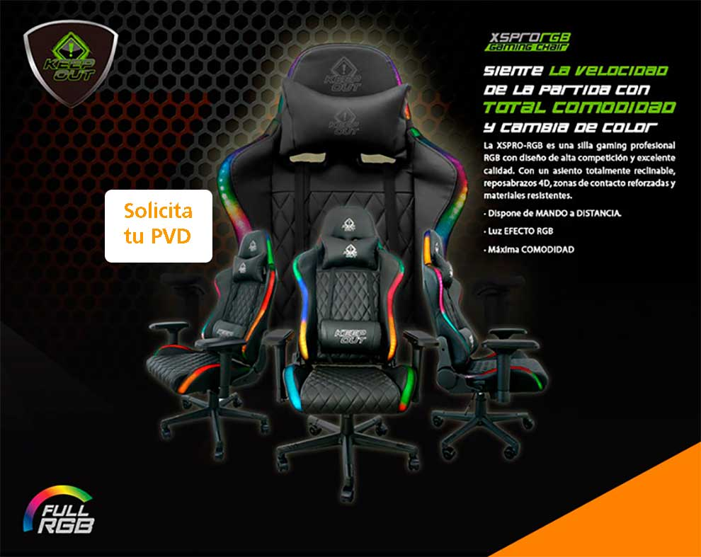 Silla gaming KeepOut XSPro-RGB
