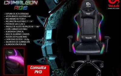 Silla gaming Camaleon RGB, nunca has visto nada igual