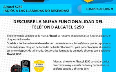 Alcatel S250 con bloqueo de llamadas