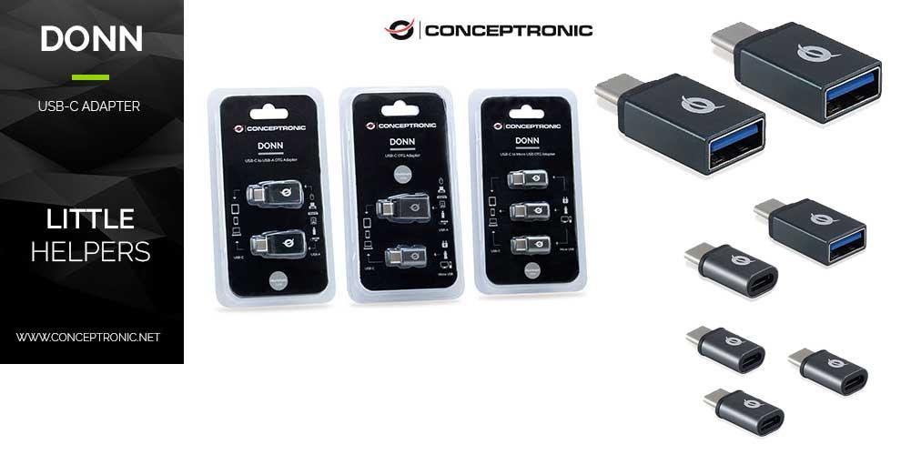Novedad adaptadores USB-C de Conceptronic
