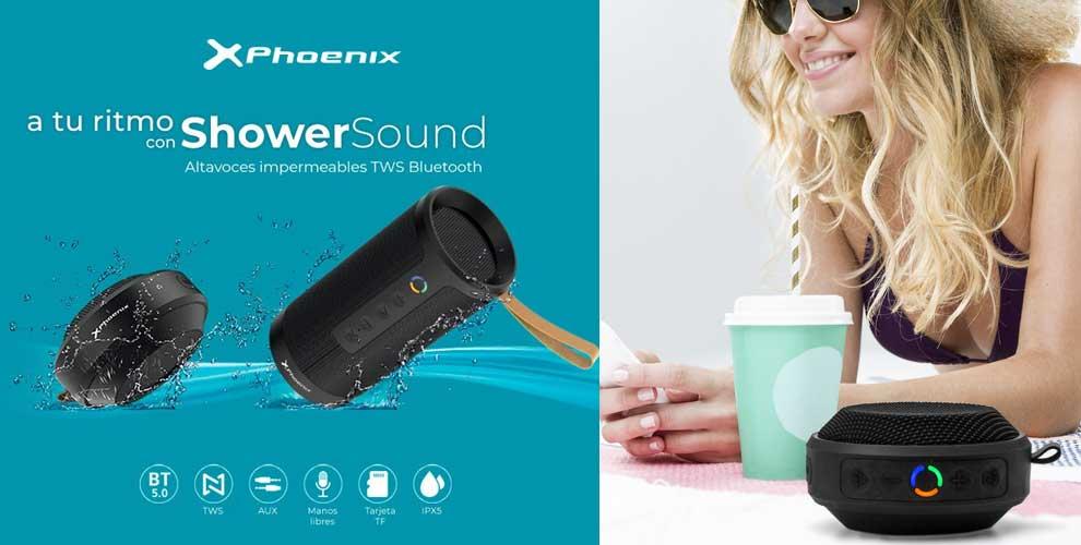 A tu ritmo con los altavoces Phoenix ShowerSound