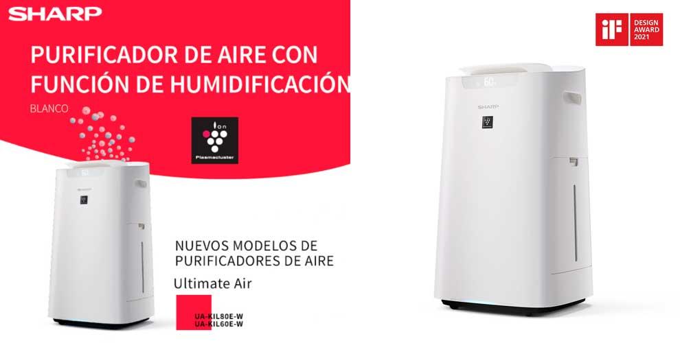 novedad purificador de aire sharp