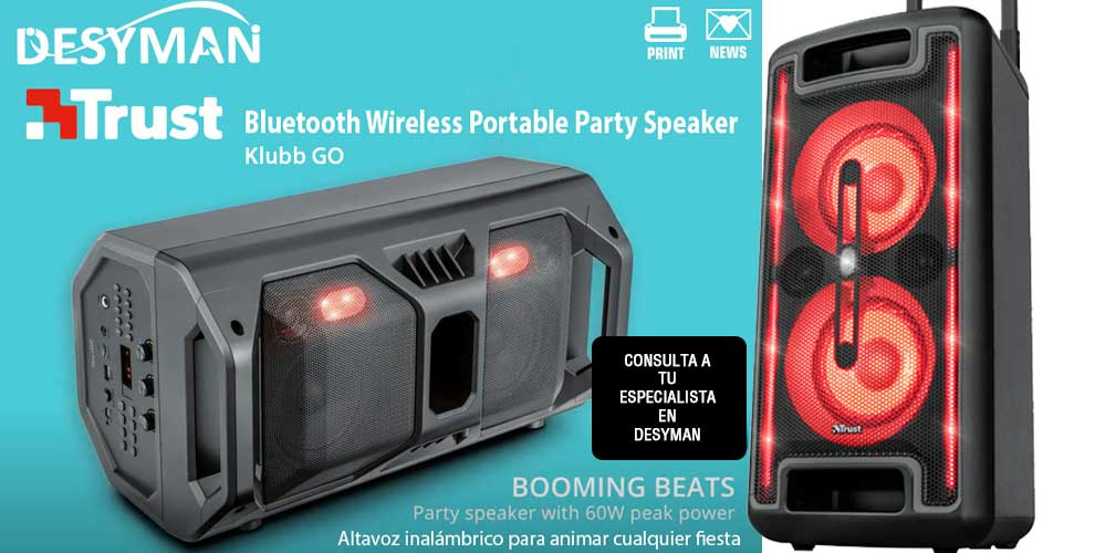 Klubb GO Bluetooth Wireless Portable Party Speaker with RGB lights
