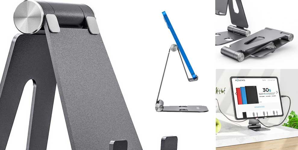 novedad soporte sobremesa aluminio móvil o tablet